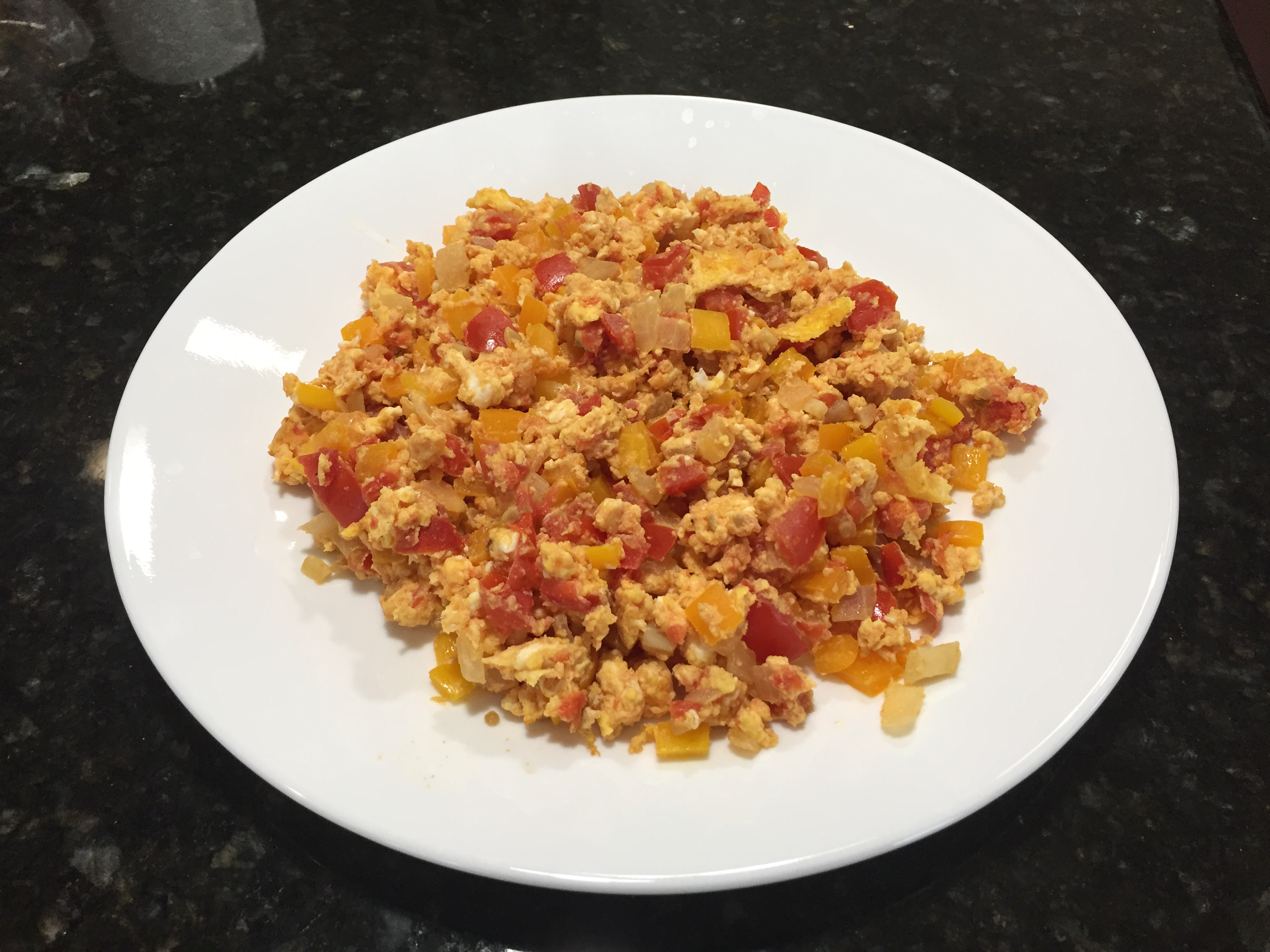 Scrambled Eggs with Tomato & Sweet Pepper